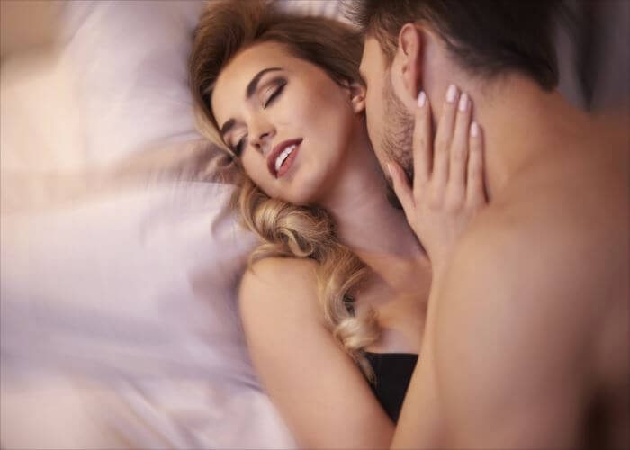 Sexual scene of young adult couple