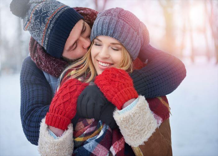 Warm clothes and warm embracing